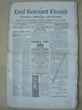 THE LOCAL GOVERNMENT CHRONICLE ANTIQUE NEWSPAPER JUNE 23rd 1883