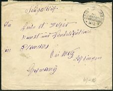 91/DP China Brief Feldpost KD Feldpostexpedition a 14/2/1901 nach Lothringen