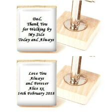 Father of the Bride Cufflinks Custom wedding cufflinks personalised cufflinks