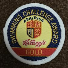 BRAND NEW  KELLOGG'S ASA / ESSA SWIMMING CHALLENGE AWARD GOLD CLOTH PATCH SEW ON