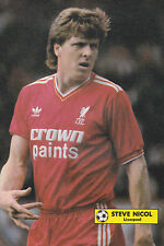 Football Photo STEVE NICOL Liverpool 1986-87