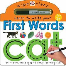 Wipe Clean: Learn to Write Your First Words - Cat by Roger Priddy (2012,...