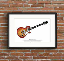 Mike Bloomfield's 1959 Gibson Les Paul Standard guitar ART POSTER A2 size
