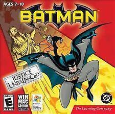 BATMAN JUSTICE UNBALANCED PC/MAC CD-ROM NEW & FACTORY SEALED