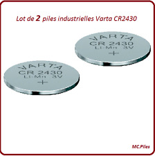 2 piles boutons CR2430 lithium Varta Industrielle, livraison rapide et gratuite