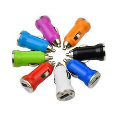 20pcs NEW USB Car Cigarette Lighter DC Power Charger Adapter ,Random color only