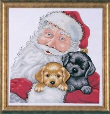 "Santa With Puppies Christmas Cross Stitch Kit - Design Works - 13"" x 13"" 5978"