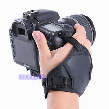 PU Leather Padded Hand Grip Wrist Strap for Camera Canon EOS Nikon SLR DSLR