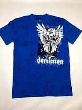 RAWBLUE Wings Skull Fearless Dominion T-Shirt Size L