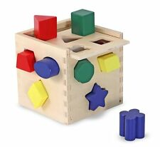 Melissa & Doug Classic Toy Wood Shape and Sorting Cube # 575