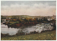 Belleek, Co. Fermanagh, N. Ireland 1940s colour photo print in 11 x 14  mount