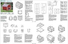 Dog House Plans Gambrel / Barn Roof Style Design 90203B, Pet Size up to 50 lbs
