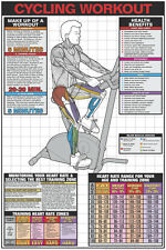 Fitness Wall Chart STATIONARY BICYCLE Cycling Workout Gym Health Club Poster