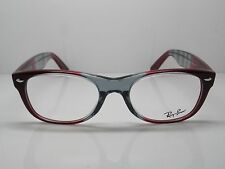 NEW Authentic Ray Ban RB 5184 5517 New Wayfarer Red/Grey 50mm RX Eyeglasses