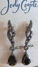 Jody Coyote Earrings JC0718 new hypo cubic zirconia black Luxe LX-0311-06  2