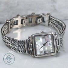 Sterling Silver - ECCLISSI MOP Inlay Wheat Chain 48g - Watch HB4373