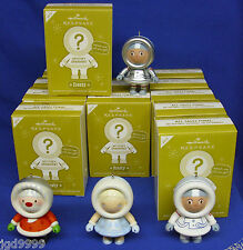 Lot of 12 Hallmark Frosty Mystery Ornaments 2012 With 1 Repaint Silver Astronaut