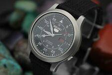 Men's SEIKO 5 Automatic 21 Jewel 7s26C Stainless Steel Military Pilots Watch