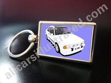 FORD ESCORT RS TURBO S1 METAL KEY RING. CUSTOM AND NONE CUSTOM AVAILABLE