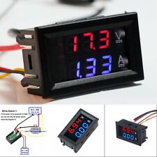 New DC 100V 10A Voltmeter Ammeter Blue Red LED Amp Dual Digital Volt Meter Gauge