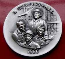 1972 .925 Sterling Silver 1.2ounce Sam Gompers Medal. 39mm rare mintage of 5,000