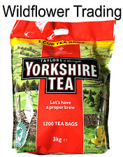 Taylors of Harrogate Yorkshire Tea Approx 1200 1 Cup Tea Bags 3Kg  Black Tea