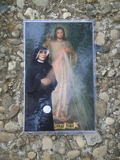 Vatican second class relic St. Faustina Kowalska vestment holy card