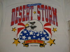Vintage Operation Desert Storm Army Support The Troops America Eagle T Shirt M