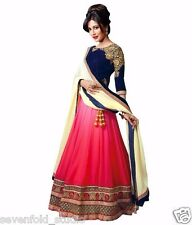 Shoulder Pink Blue Best Selling  Women's Lehenga Choli Sevenfold