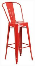 """Flash Furniture 30"""" High Red Metal Indoor-Outdoor Barstool CH-31320-30GB-RED-GG"""
