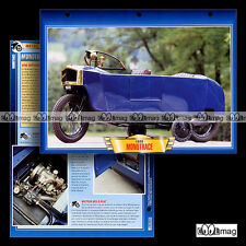#123.03 Fiche Moto MONOTRACE 1928 MINICAR MICROCAR CYCLCECAR Motorcycle Card