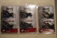 3 PACKS Jewel Guide Series J-Lock 3/16 oz  FINESSE BASS JIGS Gamakatsu MILFOIL