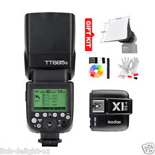 Godox TT685S TTL Speedlite Flash HSS 1/8000S+X1T-S Trigger Transmitter for Sony