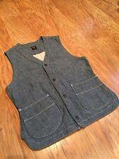 Lee 101 Chambray Vest/Waistcoat, MED