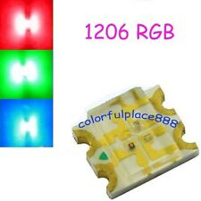 100pcs, 1206 SMD RGB LED Water Clear Common Anode Red/Green/Blue leds Diode SMT