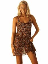 NEW KULU SWIMWEAR TIE ON SARONG COVER UP ANIMAL LEOPARD PRINT MEDIUM /LARGE 6RSG