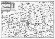Antique map, Carte du pays Messin
