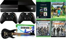 Xbox One 500GB Console Name Your Game Bundle 5 Games Guitar w/ 2 Controllers New