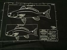 Mens  XL Captain Johnny Deep Know Your Limits Fishing Florida Fish Black T Shirt