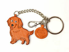 Golden Retriever Handmade 3D Leather Dog Bag/Ring Charm VANCA Made in Japan26062