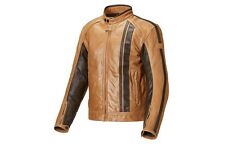 GENUINE TRIUMPH RAVEN TAN LEATHER MOTORCYCLE JACKET SIZE X-LARGE MLHS17320 £370