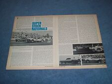 1968 Super Stock Nationals Drag Race Highlights Article New York Speedway