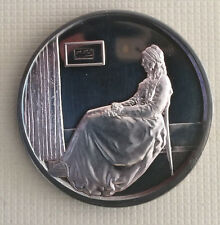 Hard to Find Whistler'S Mother 1972 Hamilton Mint Mother's Day .999 Silver Medal