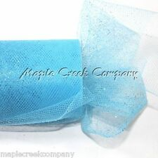 TURQUOISE Glitter Tulle Roll 6inx30ft Sparkling Tulle (10yd) TUTU'S or WRAPPING