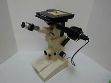MICROSCOPE UNITRON NEOMET  STAGE INVERTED METALLOGRAPH JAPAN OPTICS AS IS #TB-4