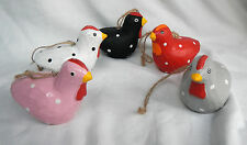 Spotted / Spotty Wooden Chickens - Chicken / Hen Decorations