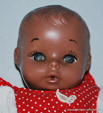 Vintage Drink & Wet 10 inch AA Black Baby doll soft rubber