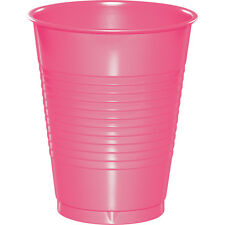 20 Candy Pink Wedding Birthday Party Tableware 16oz Plastic Beverage Cups