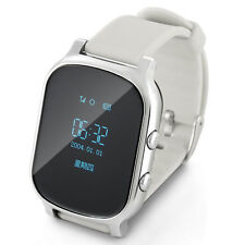 Anti-Lost Smart Tracker Wrist Watch GPS Watch Phone for Android IOS Silver