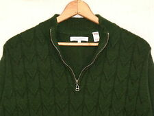 Alex Cannon 1/4 zip wool blend green sweater / men's L / normal use / b6